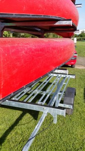 8 boat canoe trailer side view plus bike rack