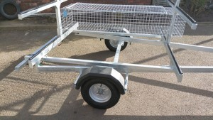 8 boat canoe trailer without bike rack. rear bumper not fitted at this point