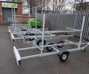 Small selection of our Canoe trailer range