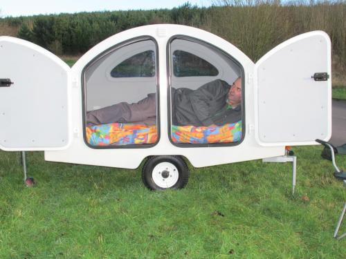 The Snibston Teardrop Trailer from Trailus in standard white