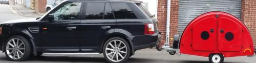 Range Rover with Snibson Ladybird on tow